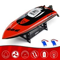 Brushless RC Boat for Adult Kid 40 km/h Fast Remote Control Boat w/ 2 Batteries
