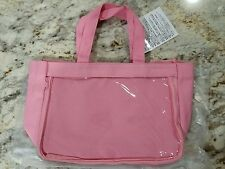 Pink Canvas Ita Bag Zipper Clear Front Tote Anime
