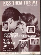 Kiss Them For Me 1957 Cary Grant Jayne Mansfield Suzy Parker Sheet Music
