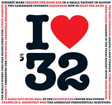 85th Regalo Di Compleanno-I Love 1932 COMPILATION CD Saluti Card-CD CARD COMPANY