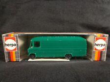Herpa HO Mercedes Benz TRANSPORTER 508 D BOX VAN BUS Green 4080 NEW Germany vtg