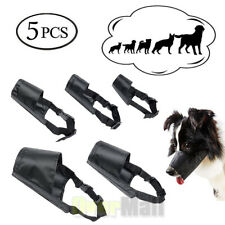 Adjustable Dog Muzzle Safety Muzzel Biting Barking Chewing S-Xxxl Set of 5