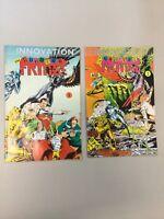 The Lunatic Fringe 1 & 2 1989 Innovation Comics Complete Set