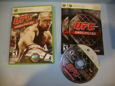 UFC 2009 Undisputed (Microsoft Xbox 360, 2009)