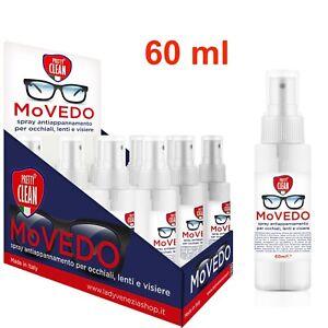 PRETTY CLEAN MoVEDO Spray antiappannante universale occhiali,visiera,casco,60 ml