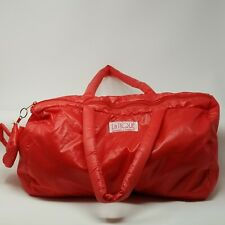 Vintage 80's LaTique Puffy Purse Parachute Duffel Gym Bag Red with Mini Bag
