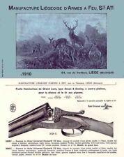 Manufacture Liegeoise d'Armes a Feu Ste. Ame c1910 Gun Catalog