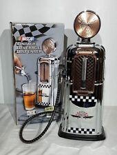 """Nascar Beverage Dispenser Vintage Style Gas Pump By Godinger 16.50"""" Tall"""