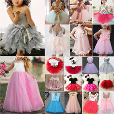 Baby Kids Girls Princess Dress Wedding Pageant Party Tulle Tutu Formal Dresses