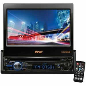 """Pyle 7"""" 1-DIN In-Dash DVD Player w/ Motorized Touchscreen & Bluetooth PLTS78DUB"""