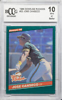 1986 DONRUSS ROOKIES #22 JOSE CANSECO RC BCCG GEM MINT 10 (MR)