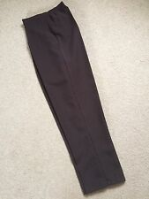 Dark Brown Semi Elasticated Waist Trousers / Hip Pockets - Size 22 ** NEW **
