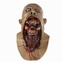 Bloody Zombie Mask Melting Face Adult Latex Costume Walking Dead Scary