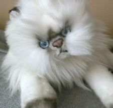 Ragdoll long hair Cat memorial Stuffed Toy persian silver brown Valentine's Day