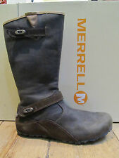 Merrell Flat (less than 0.5') 100% Leather Boots for Women