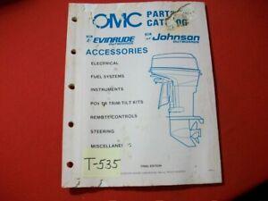 ORIGINAL FACTORY 1989 OMC EVINRUDE JOHNSON PARTS CATALOG ACCESSORIES