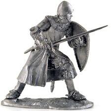 Italian Knight 13Cen Tin toy soldiers. 54mm miniature figurine. metal sculpture