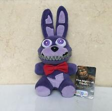"""NEW FNAF FIVE NIGHTS AT FREDDY'S NIGHTMARE BONNIE PLUSH TOY 6"""" kids gift doll"""