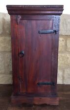 Vintage Small Wooden Freestanding Cupboard Bed Side Table Storage Hall Cabinet