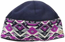Columbia Women's Alpine Pass Beanie Ebony Blue Geo  OSFM NWT