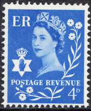1966 4d Ultramarine Northern Ireland Error Flaw Dot under S of Postage XN4 SGNI2