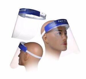 AntiFog Full Face Protective Shield Plastic Transparent Visor with Elastic Band