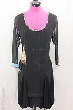 Frank Lyman Quirky Art to Wear Asymmetrical Smock Back Tunic Dress Sz 10 EUC