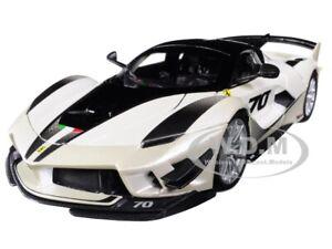 FERRARI FXX-K EVO #70 WHITE 1/18 DIECAST MODEL CAR BY BBURAGO 16012