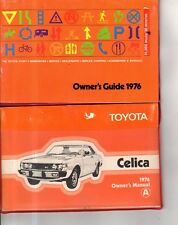 1976 Toyota Celica Original Owners Manual and Guide in red leather case - Rare