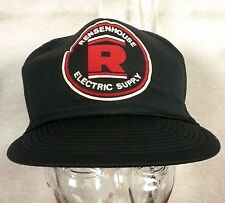 vtg 80s Rensenhouse Electric Supply mesh/foam Snapback Trucker Hat Cap indie