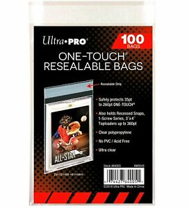 Ultra Pro One Touch Resealable Bags | 100 CT | Compare to Team Bag | One-Touch