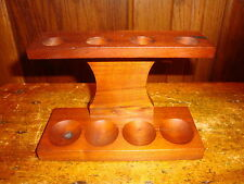 Vintage Wooden Smoking Pipe Rack Stand For Four Pipes Fairfax