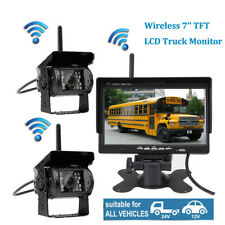 """2x Wireless Backup Camera Rear View HD Parking System Night Vision 5"""" Monitor"""