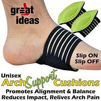 Arch Support Cushions Weak & Fallen Arches Plantar Fasciitis Pain Aid Foot Feet