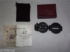 VINTAGE 1960-70S ENGINEER LENSATIC COMPASS UNUSED IN BOX HINGES BROKEN