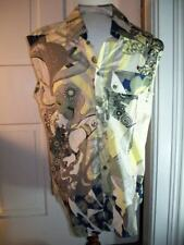 JUST CAVALLI SLEEVELESS CAMICIA BUTTON MULTI COLOR XXL