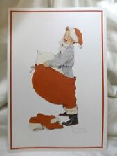 Holiday Seasonal Card Christmas Santa Kid Cheer Greetings Gift Post Vintage