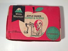 Vintage White Mountain Apple Parer Corer and Slicer Peeler Canning Baking