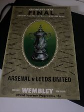Arsenal Vs Leeds United 6th May 1972 FA Cup Final Programme