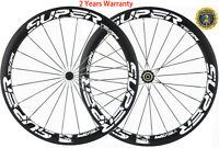 50mm Carbon Wheels Road Bike Cycle Wheelset 700C UD/3K Wheelset Shimano/Campy