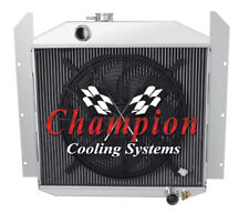 "3 Row Performance Champion Radiator W/ 16"" Fan for 1949 - 1952 Studebaker Pickup"