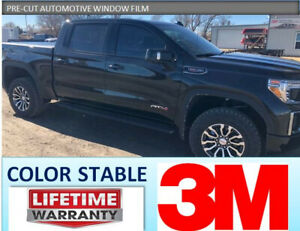 PRECUT FULL TRUCK TINT 3M COLOR STABLE GMC SIERRA 1500 CREW CAB 2019 2020 2021