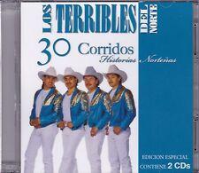 Los Terribles del Norte 30 Corridos Nortenos 2CD New Sealed