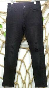 NEW KSUBI CHITCH FURY DENIM WHSHED MEN'S JEANS BLACK SIZE 32x32 US FREE SHIPPING