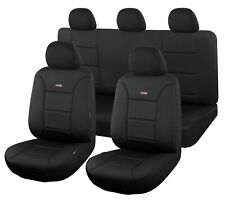 AutoZone Premium Seat Covers for Ford Ranger PX II Series Dual Cab 06/2015 - Black