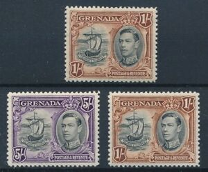 [56632] Grenada lot 3 good MH Very Fine stamps