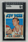 1971-72 Topps #170 Rick Barry Rc Rookie SGC 5 EX Nets
