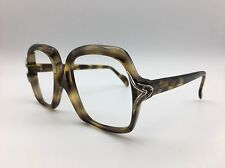 Baccara Gray Striped Sunglasses Eyeglasses Frames Indo Made in Spain 50-16-130