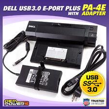 DELL Genuine PA-4E 130W Power Adapter + DELL USB 3.0 E-Port Plus Docking Station