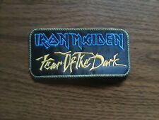 IRON MAIDEN,FEAR OF THE DARK,SEW ON WITH GREEN EDGE EMBROIDERED PATCH